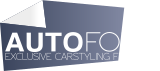 Logo Autofolia černobílé